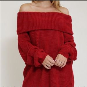 Sweaters - Off shoulder sweater